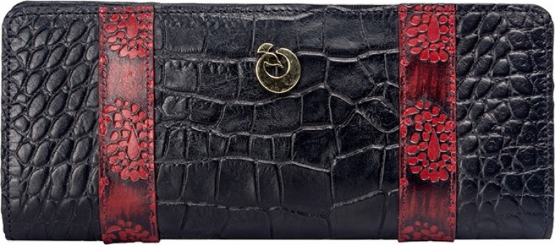 Holii Women Black Genuine Leather Wallet(2 Card Slots)