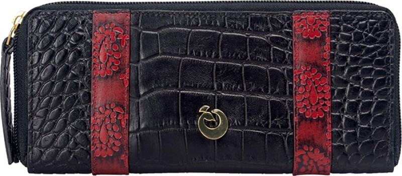 Holii Women Black Genuine Leather Wallet(2 Card Slots)