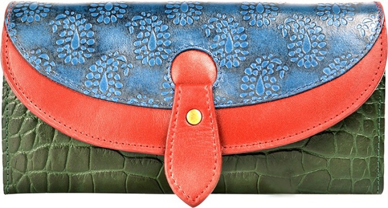 Holii Women Green Genuine Leather Wallet(1 Card Slot)
