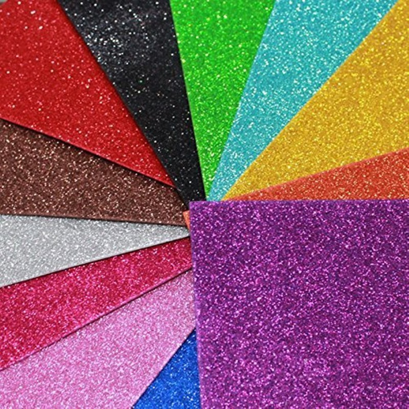 A-Mart™ Premium A4 Size Glitter EVA Foam Sticker Sheet Pack of 10 30 cm Acrylic Sheet(2 mm)