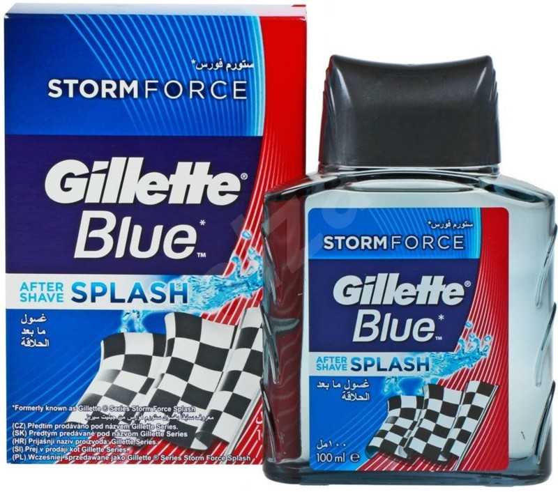Gillette Blue After Shave Splash, Storm Force - 100ml(100 ml)