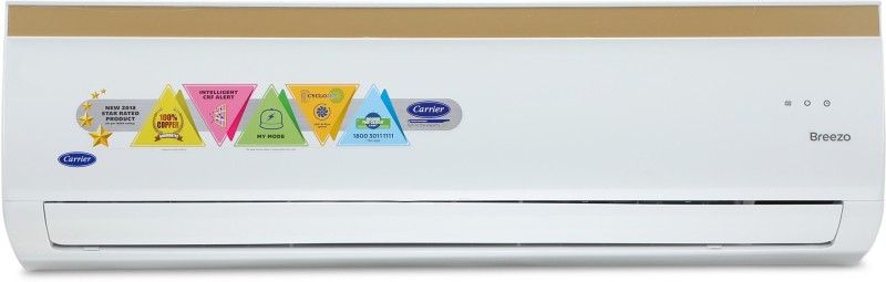 Carrier Cyclojet 1.2 Ton 3 Star Split AC - White(14K BREEZO - 3 STAR/CAS14BR3J8F0, Copper Condenser)
