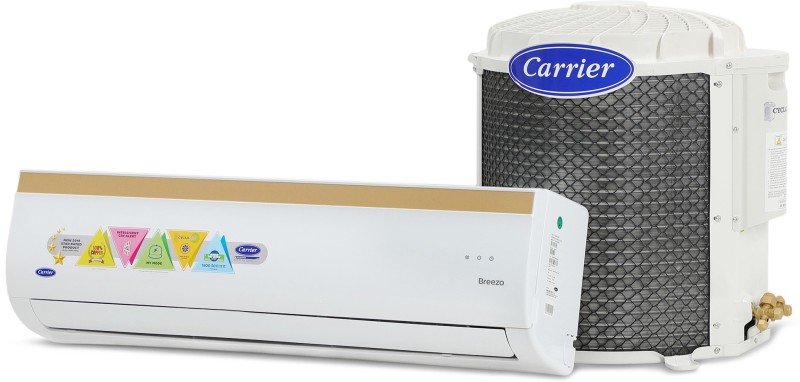 Carrier 1.2 Ton 3 Star BEE Rating 2018 Split AC - White(14K BREEZO - 3 STAR/CAS14BR3J8F0, Copper Condenser)