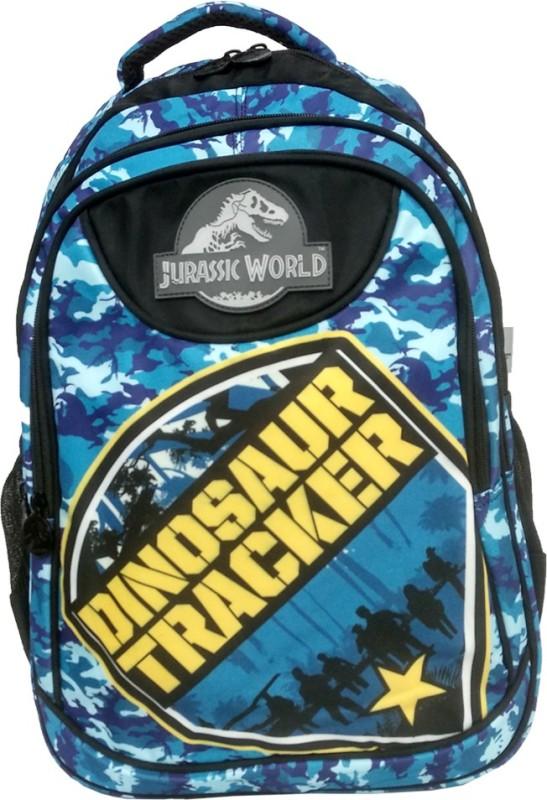 My Baby Excel Jurassic World Tracker School Bag 48 cm Waterproof School Bag(Blue, Black, 19 inch)