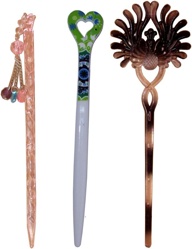 6TY Combo of Multi Color Juda Sticks Bun Stick(Multicolor)
