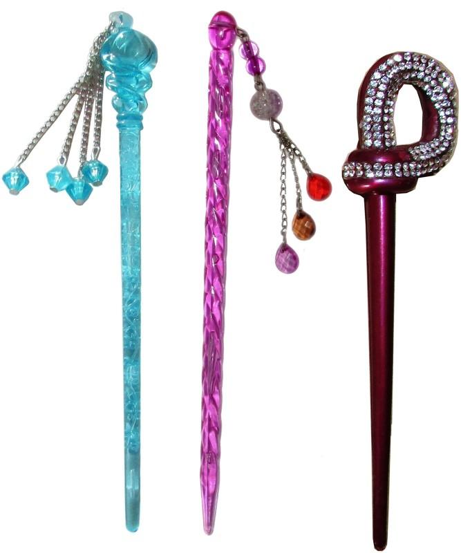 4GY Combo of Multi Color Juda Sticks Bun Stick(Multicolor)