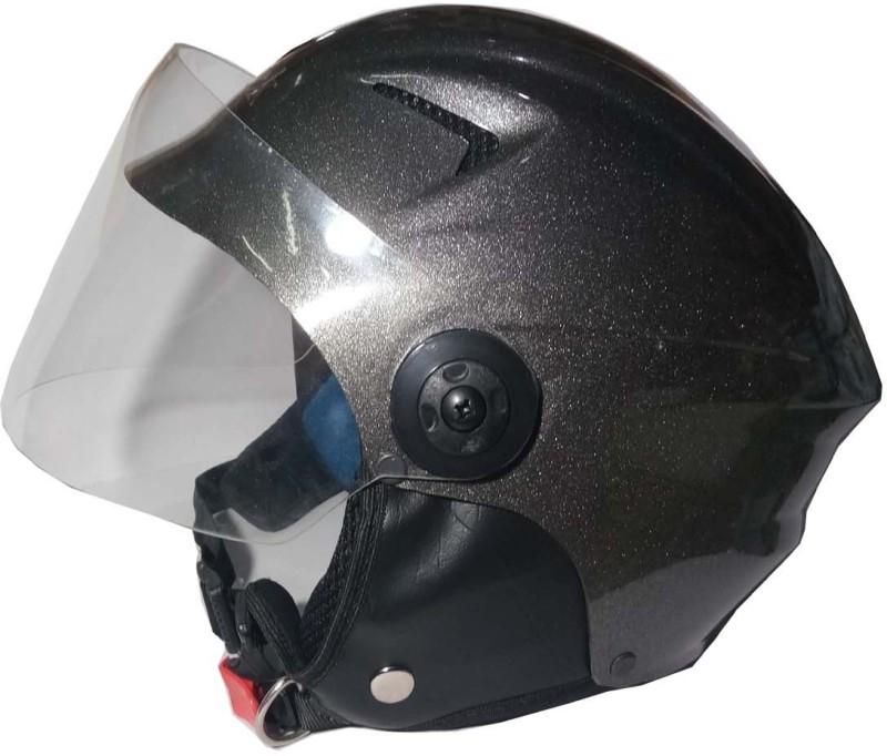 Target Quick 3 Motorbike Helmet(Black Silver 1)