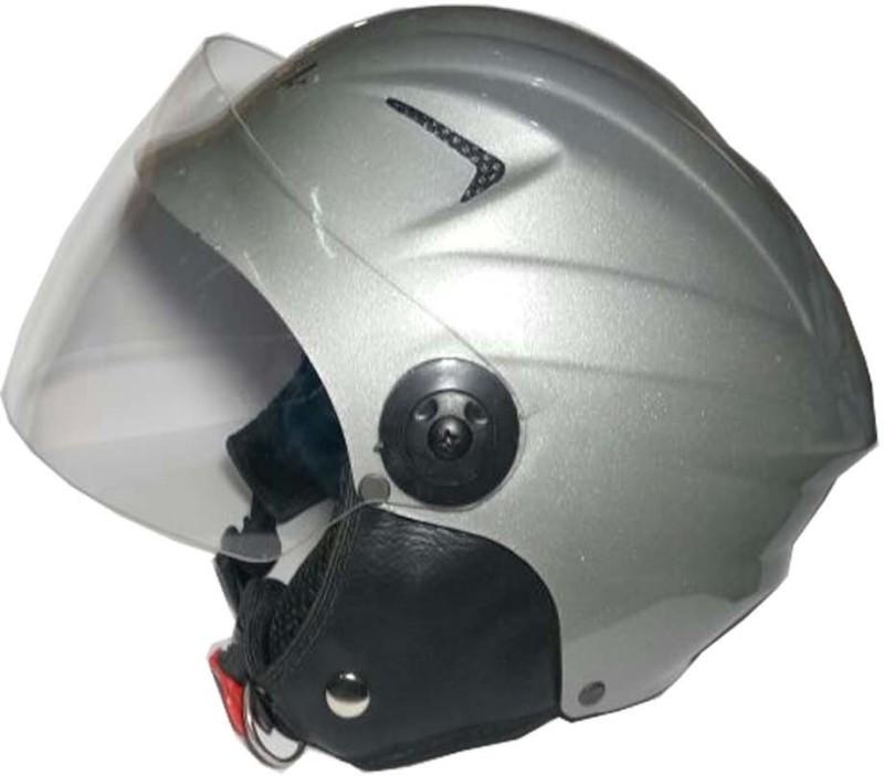 Target Quick 4 Motorbike Helmet(Silver)