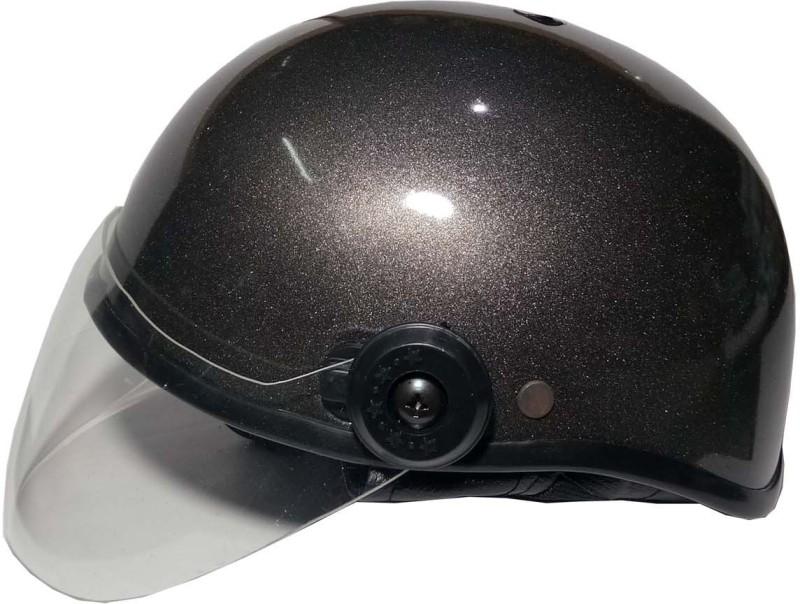 Target Cute Indian Motorbike Helmet(Black Silver 2)
