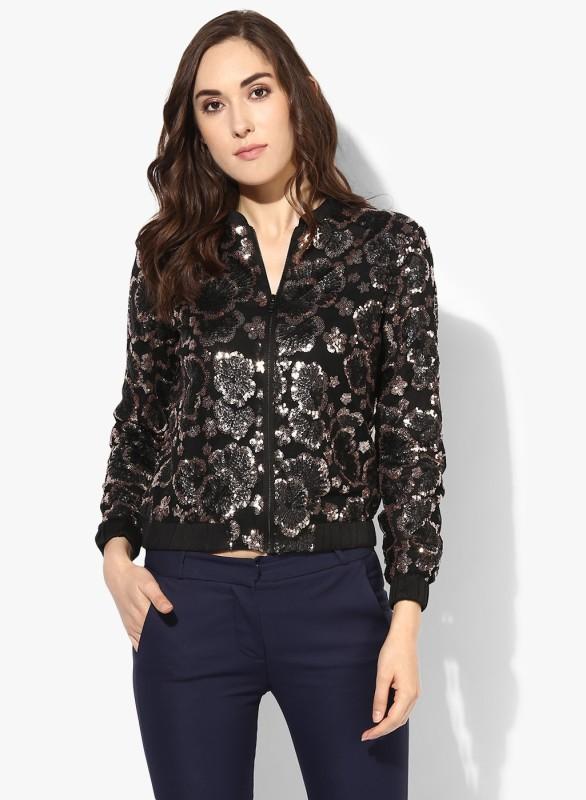 Kazo Full Sleeve Self Design Women Jacket