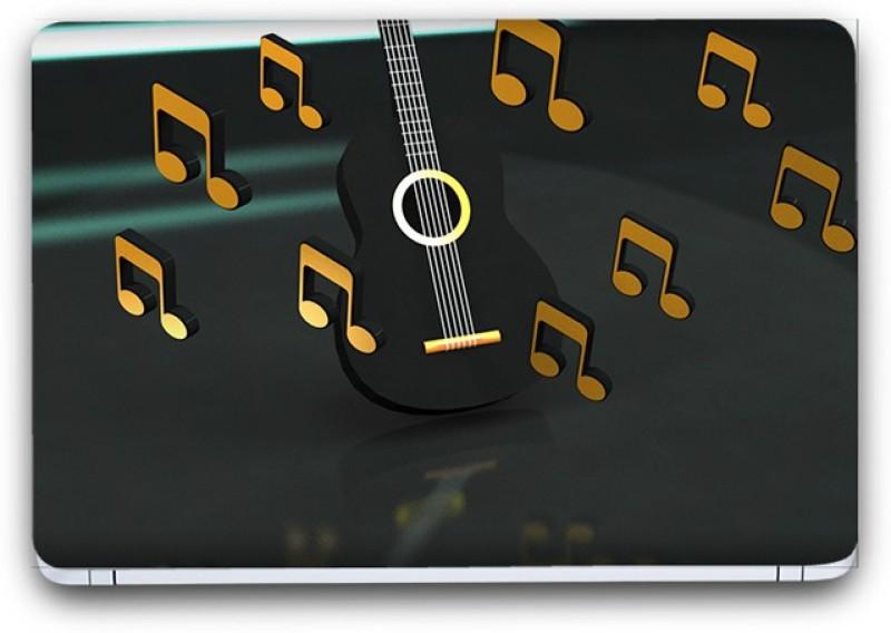 Flipkart SmartBuy Glowing Music Notes 4 Vinyl Laptop Skin (3M/Avery Vinyl, Matte Laminated, 15 x 10 inches) Vinyl Laptop Decal 15.10