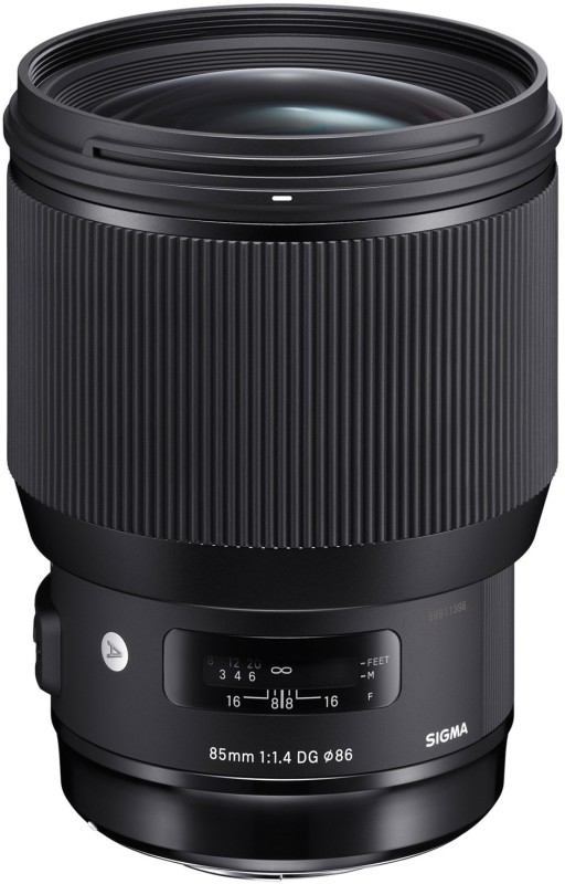 Sigma 85mm F/1.4 DG HSM Art lens for Nikon DSLR Cameras Lens(Black, 18 - 400)
