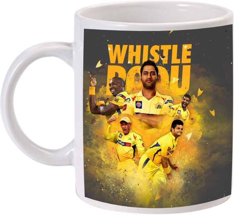 MUGKIN Chennai Super king - Ms dhoni Ceramic Mug(350 ml)