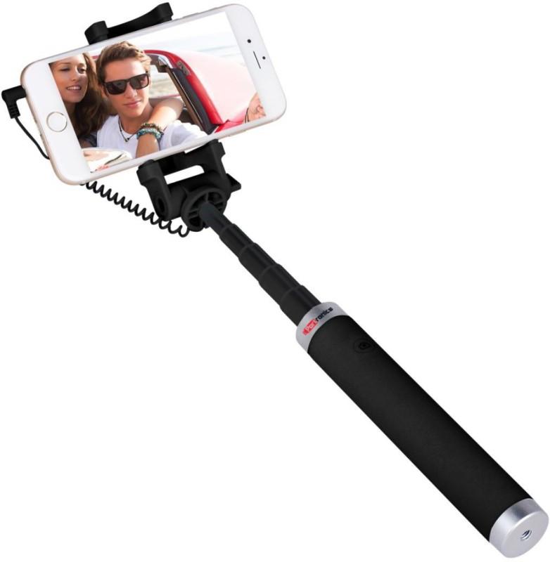 Portronics Cable Selfie Stick(Black)
