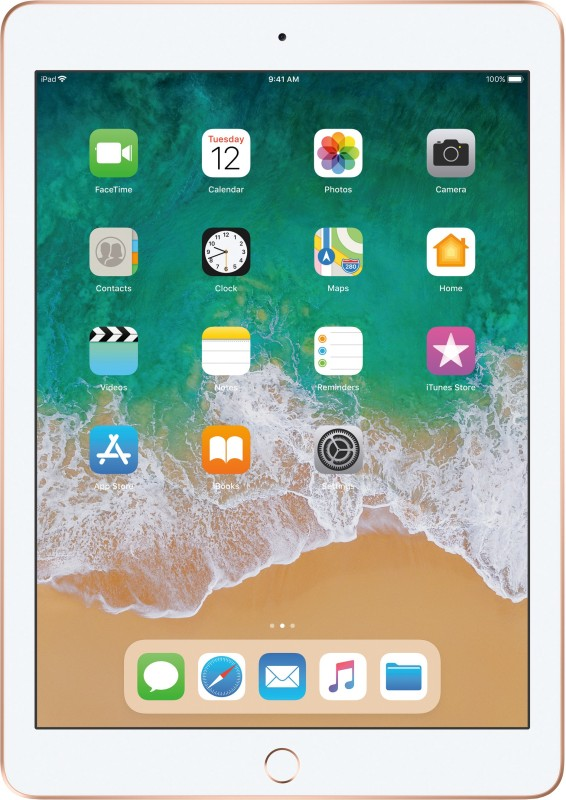 Apple iPad (6th Gen) 128 GB 9.7 inch with Wi-Fi Only (Gold)