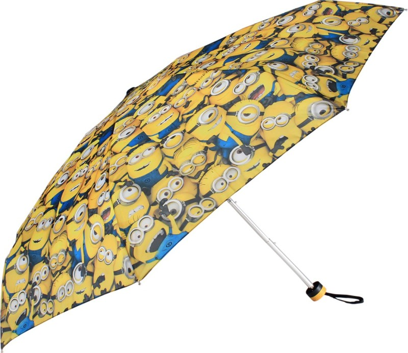 Johns Johns 5 Fold Atom Series Minions Design Umbrella Umbrella(Yellow)