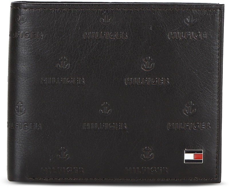 Tommy Hilfiger Men Brown Genuine Leather Wallet(4 Card Slots)