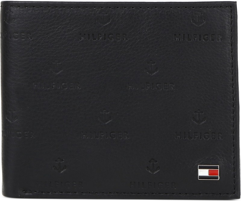 Tommy Hilfiger Men Black Genuine Leather Wallet(4 Card Slots)