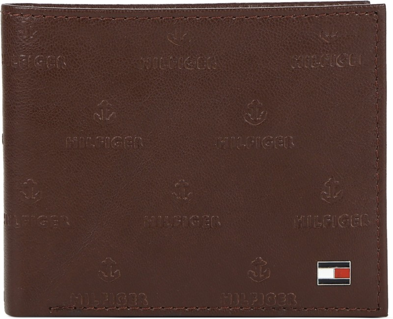Tommy Hilfiger Men Brown Genuine Leather Wallet(8 Card Slots)