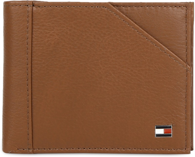 Tommy Hilfiger Men Tan Genuine Leather Wallet(8 Card Slots)