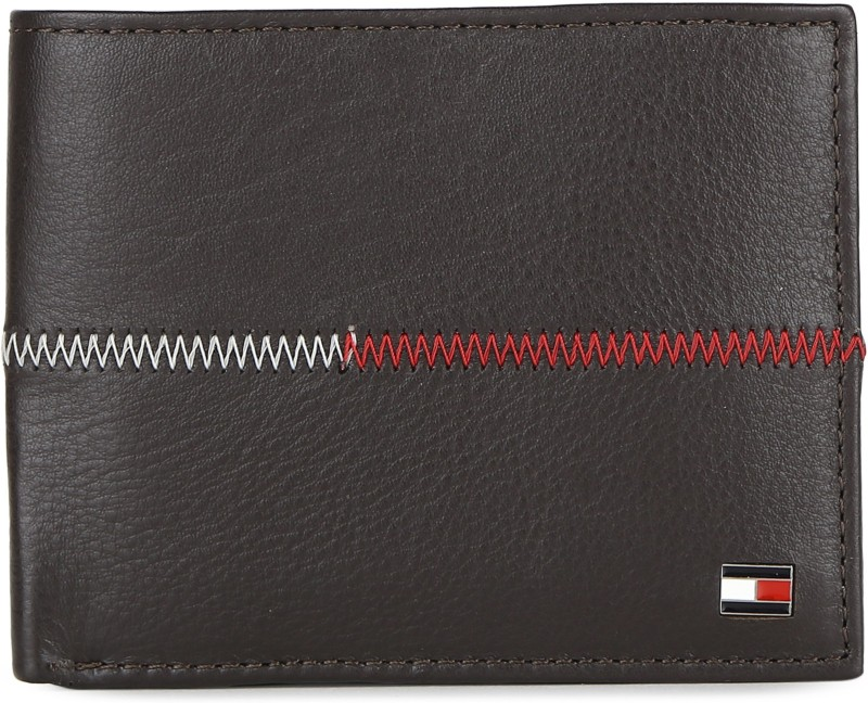 Tommy Hilfiger Men Brown Genuine Leather Wallet(11 Card Slots)