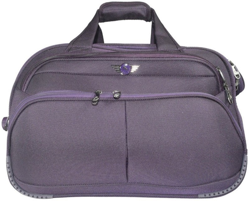 Texas USA (Expandable) Imported Water Resistant 20 Inch Duffel Bags with Inbuilt Trolley Carry it on your shoulder or pull along as a trolley bag  Duffel Strolley Bag(Purple)