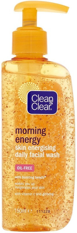 Clean & Clear Morning Energy Skin Energising Daily Facial Wash, Oil-Free - 150ml Face Wash(150 ml)