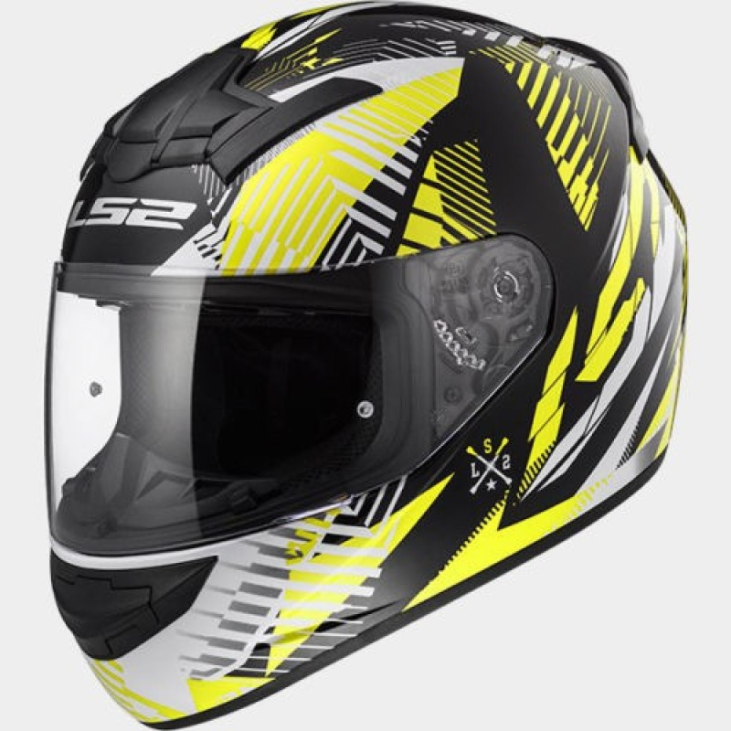 LS2 Infinity White Black Yellow Motorbike Helmet(White, Black, Yellow)
