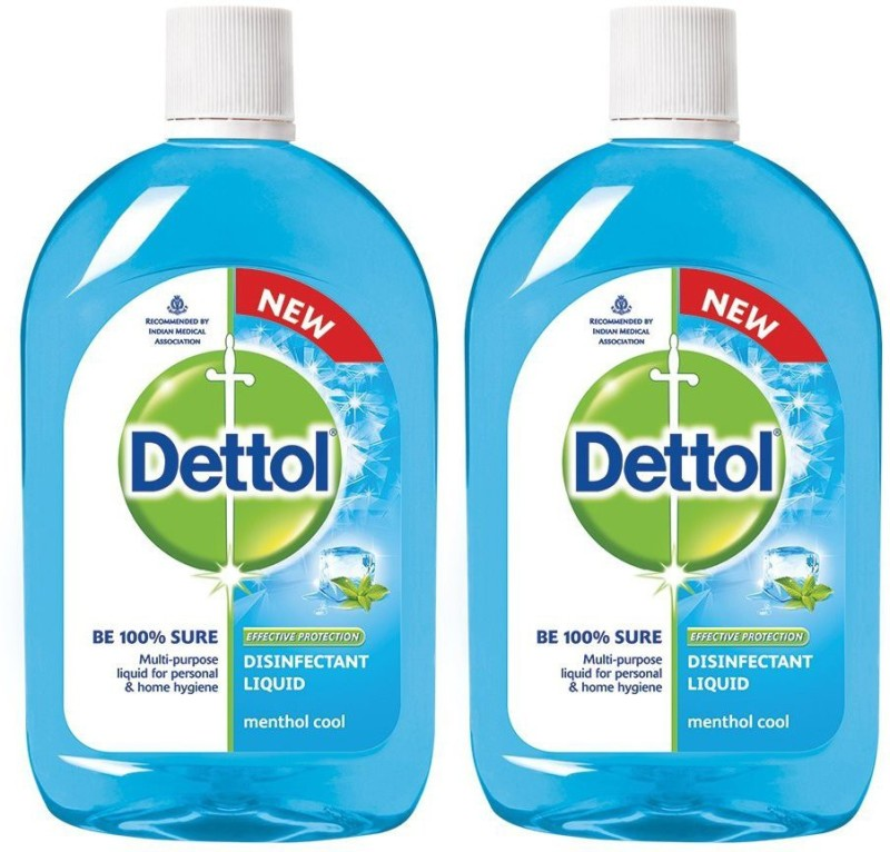 Dettol Disinfectant Liquid - 500 ml (Pack of 2) Kitchen Cleaner(1000 ml)