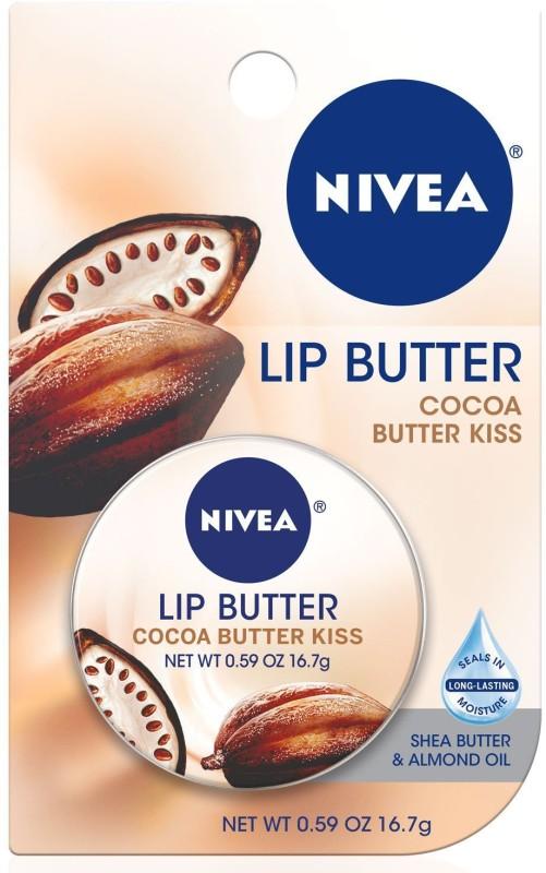 Nivea Lip Care Butter Tin, Cocoa Butter Kiss Cocoa Butter(16.7 g)