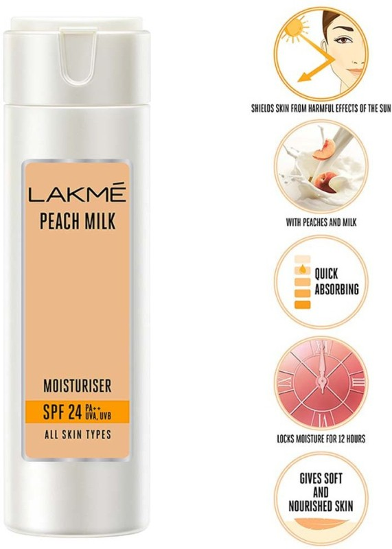 Lakme Peach Milk Moisturizer SPF 24 PA++(200 ml)