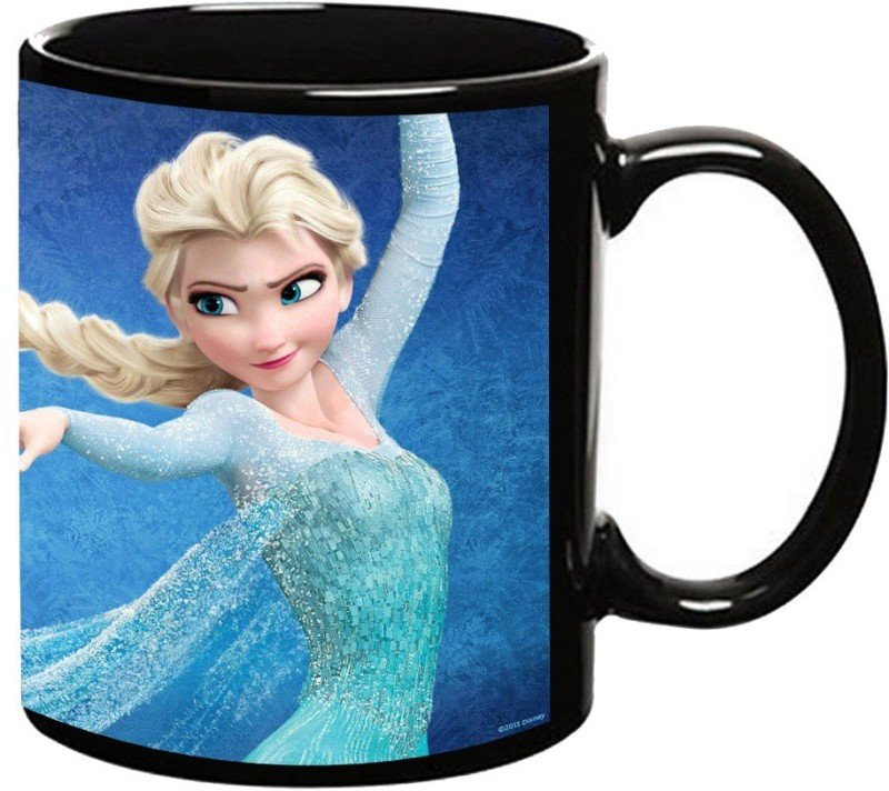 MUGKIN Frozen Dark Ceramic Mug(350 ml)