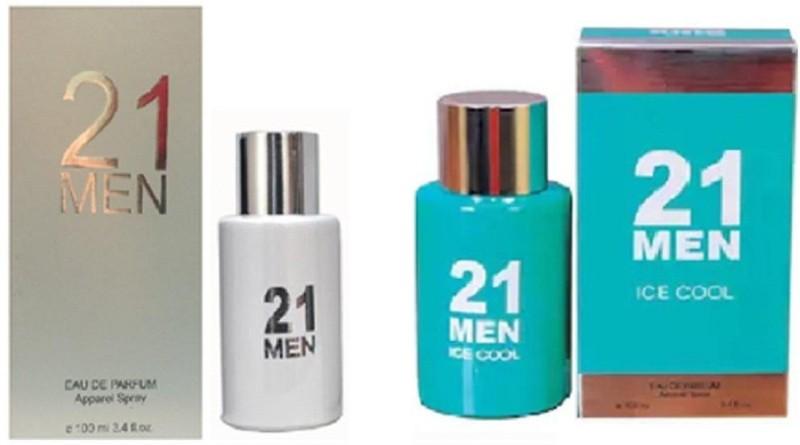 21 MEN WHITE GREEN Eau de Toilette - 100 ml(For Men & Women)