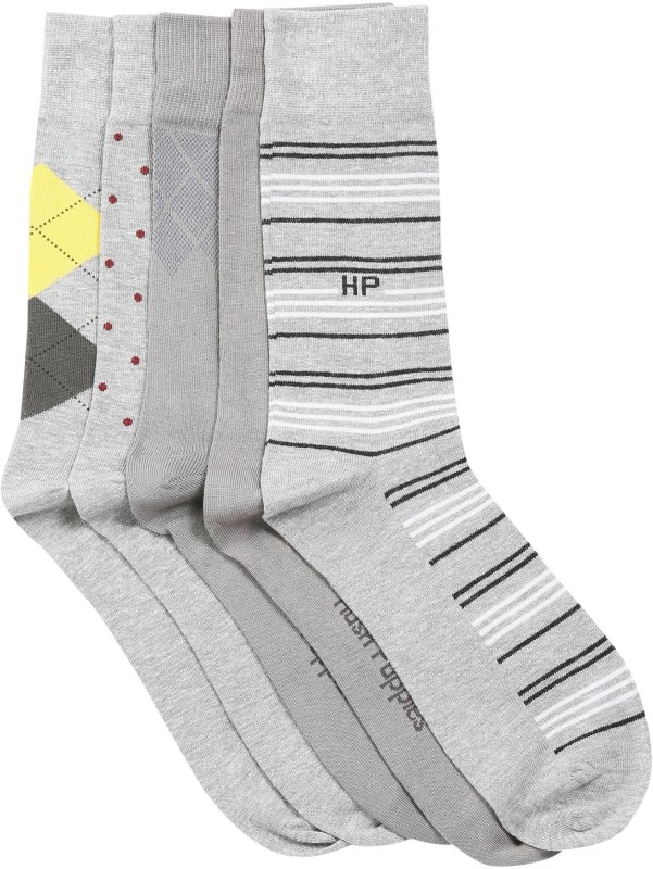 Hush Puppies Mens Striped Crew Length Socks(Pack of 5)