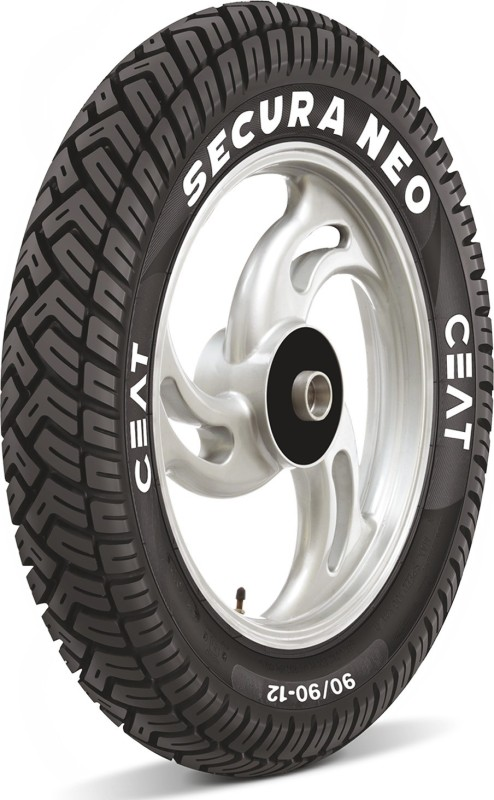 CEAT 101785 SECURA NEO 90/90-12 Front & Rear Tyre(Street, Tube)