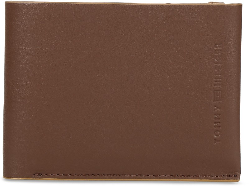Tommy Hilfiger Men Brown Genuine Leather Wallet(2 Card Slots)