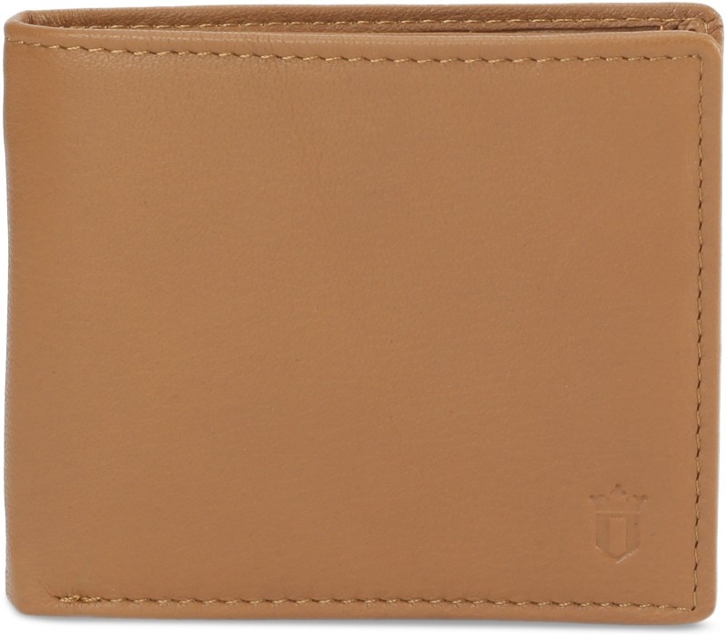 Louis Philippe Men Tan Genuine Leather Wallet(4 Card Slots)