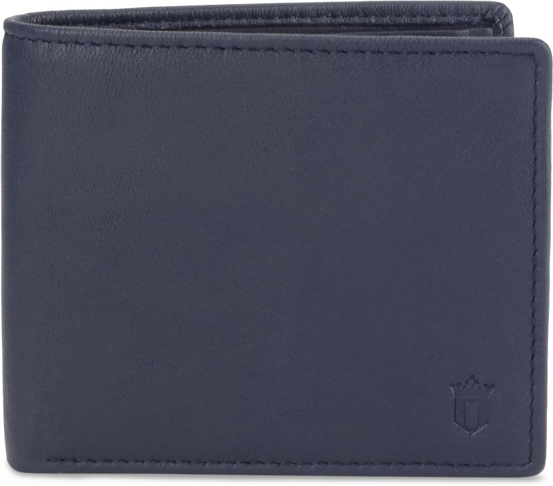 Louis Philippe Men Blue Genuine Leather Wallet(4 Card Slots)
