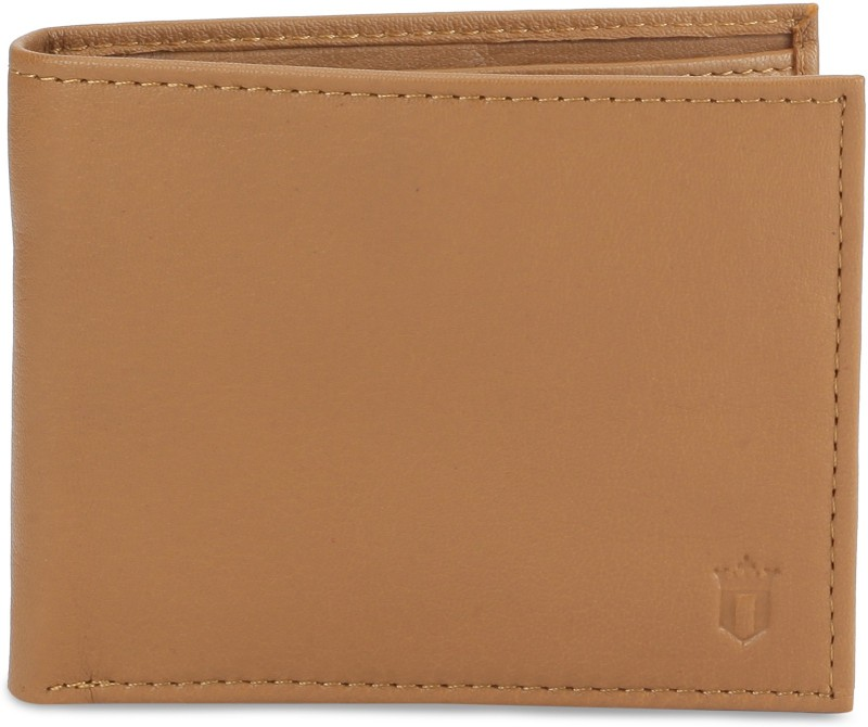 Louis Philippe Men Tan Genuine Leather Wallet(8 Card Slots)