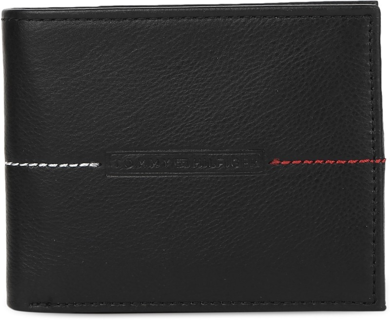 Tommy Hilfiger Men Casual Black Genuine Leather Wallet(4 Card Slots)