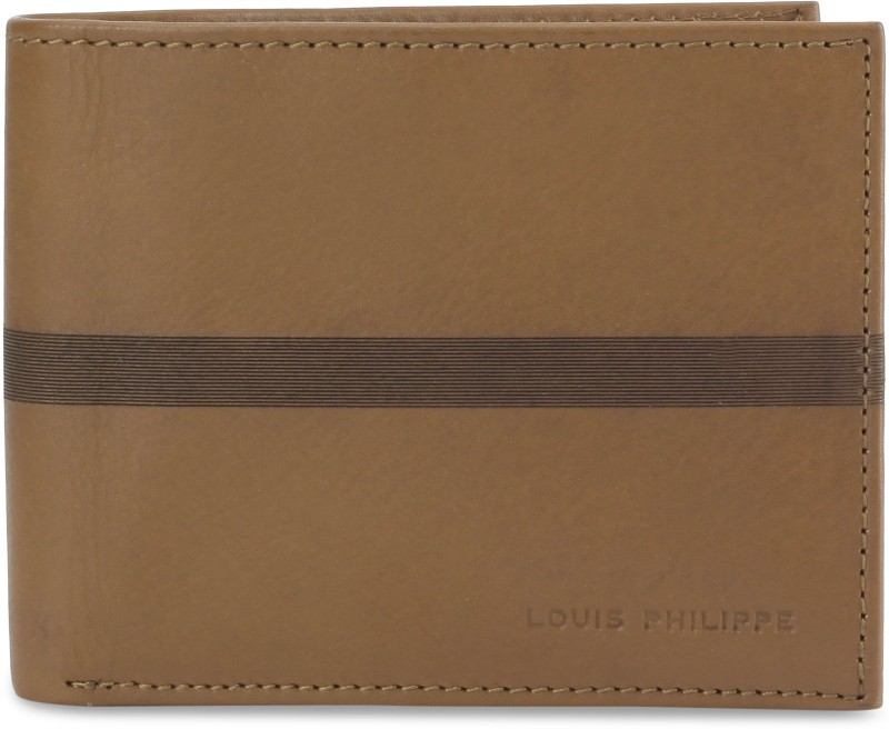 Louis Philippe Men Brown Genuine Leather Wallet(4 Card Slots)