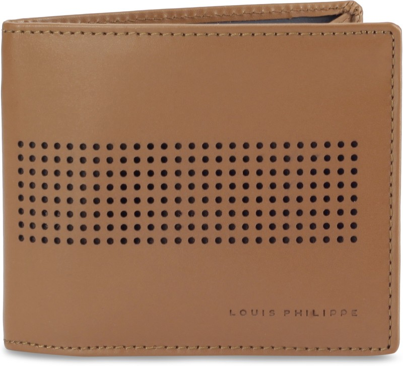 Louis Philippe Men Brown Genuine Leather Wallet(6 Card Slots)