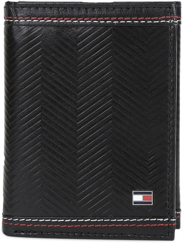 Tommy Hilfiger Men Black Genuine Leather Wallet(6 Card Slots)