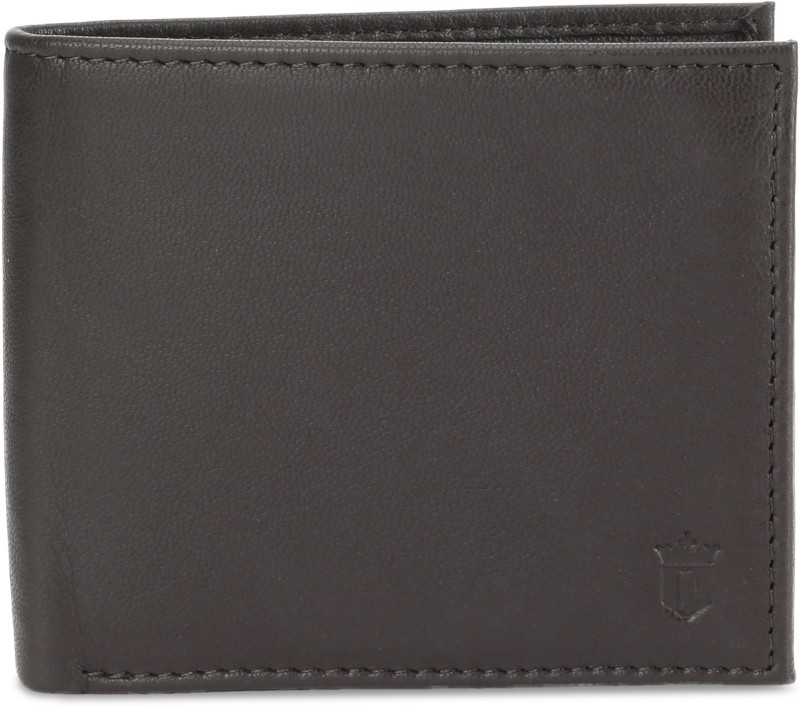 Louis Philippe Men Grey Genuine Leather Wallet(8 Card Slots)