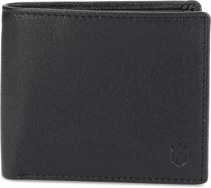 Louis Philippe Men Grey Genuine Leather Wallet(4 Card Slots)