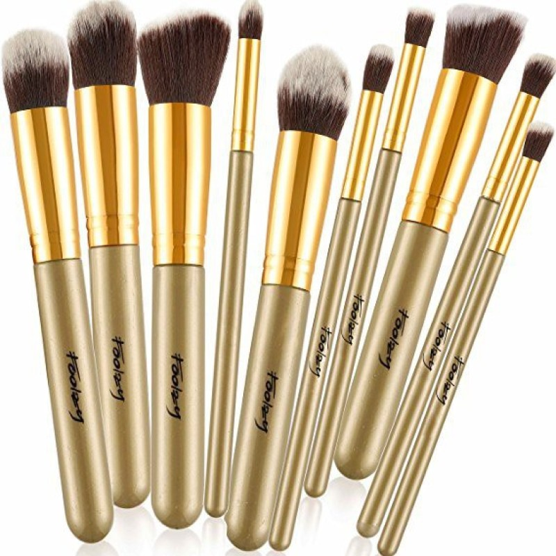 Foolzy Pack of 10 Professional Makeup Brushes Kit(Pack of 10)