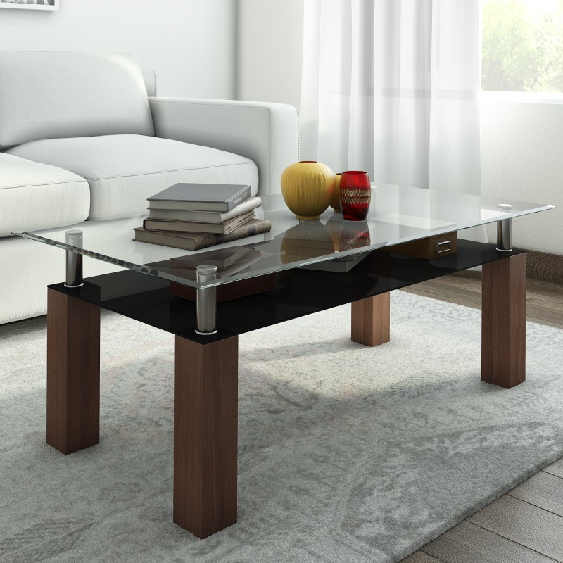 RoyalOak Beat Metal Coffee Table(Finish Color - Brown)