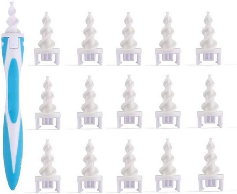 DALUCI Disposable Ear Wax Cleaner System with 16 Replacement Heads Electric Ear Cleaner