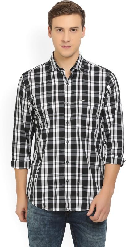 Peter England Mens Checkered Casual Spread Shirt