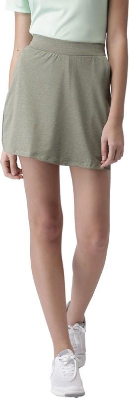 2GO Solid Women Skorts Dark Green Skirt